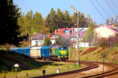 Freight train — Stockfoto