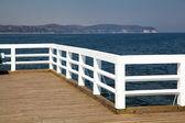 Houten pier — Stockfoto