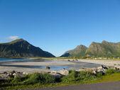 Norge beach — Stockfoto