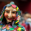 Mask parade at the historical carnival in Freiburg, Germany — Stockfoto