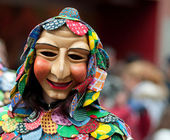 Mask parade at the historical carnival in Freiburg, Germany — Stock Photo