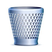Trash can, vector eps version 8 — Stock Vector