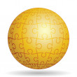 Stock Vector: Puzzle golden ball