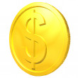 Stock Photo: Gold coin.