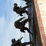 Subdivision anti-terrorist police — Stock Photo
