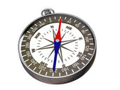 Compass on white - clipping path — Stock Photo