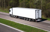 White Clean Truck or Lorry — Stock Photo
