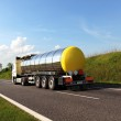 Fuel tanker truck (names removed) — 图库照片