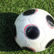 A soccer ball in stadium — Stock Photo