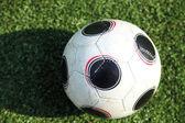 A soccer ball in stadium — Stock Photo