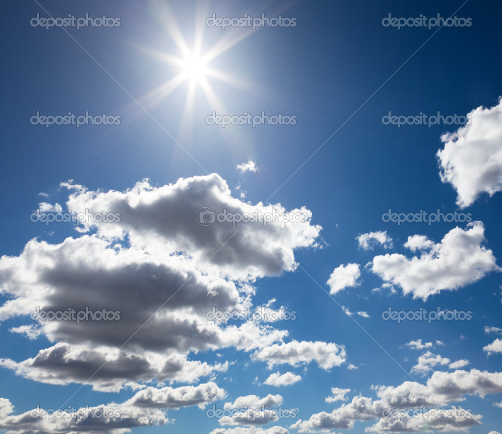 Beautiful sky with sun — Stock Photo #5707280