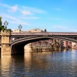 Famous bridge and River in york,uk — Stock Photo