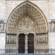 Detail of Notre dame de Paris - Stock Photo