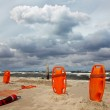 Lifeguard equipment on the beach — Stock Photo