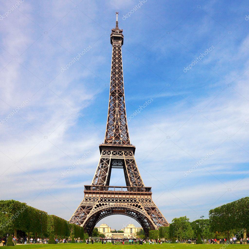 Tour Eiffel European National Landmark Stock Photo