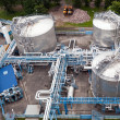 Oil industry equipment installation — Stockfoto