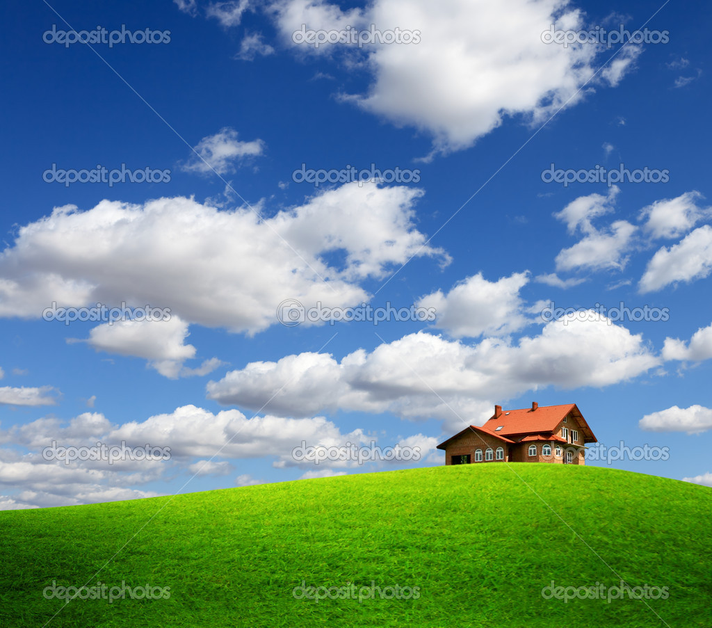 House on the hill  Stock Photo #5426574