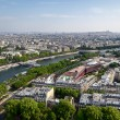 Panoramic view of the French capital - Stock Photo