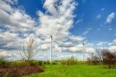 Country panorama with turbines — Photo