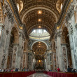 Saint Peter's basilica interior in Vatican — Stock Photo