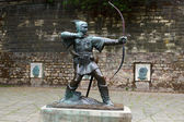 Statue of Robin Hood — Stock Photo