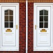 Typical British door - Stock Photo
