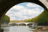 Tiber river in Rome — Foto Stock