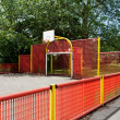 Basketball court in a park — Stock Photo