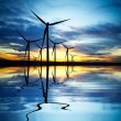 Foto de Stock  : Wind Power at Sunset