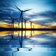 Wind Power at Sunset — Stock Photo