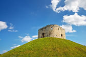 Clifford's Tower in York, UK — Stock Photo