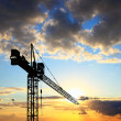Construction site at sunset — Stock Photo #6004230