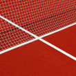 Tennis net and lines — Stock Photo