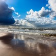 Stormy ocean seascape - Stock Photo