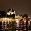 Seine River at Night - Foto de Stock