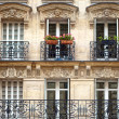 Balconies - Parisian Architecture — Stock Photo