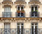 Balconies - Parisian Architecture — Stock Photo