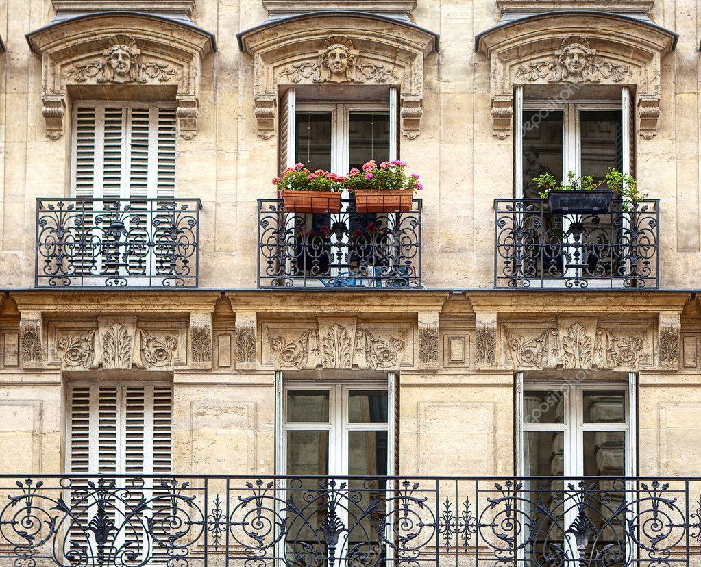 Французские балконы в архитектуре.