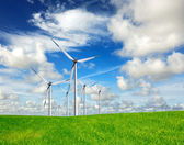 Wind energy on blue sky — Stock Photo
