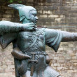Stock Photo: Robin Hood statue in Nottingham