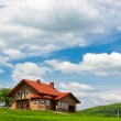 New house on the hill — Stock Photo