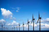 Long row of windmills — Stock Photo