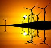 Turbine at Sunset — Stock Photo
