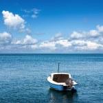 barco a motor no mar — Foto Stock