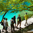 Discovering the Plitvice lakes - Stock Photo