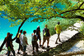 Discovering the Plitvice lakes — Stock Photo