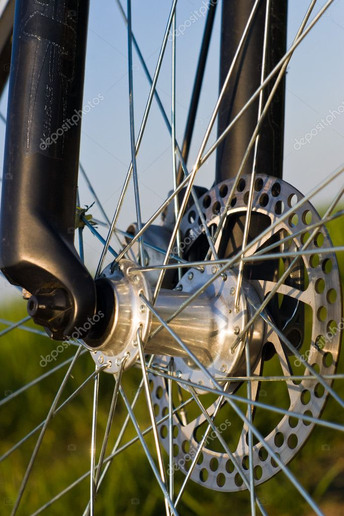 Color bike, small parts of bike in sunny day — Stock Photo #5660470