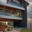 CView of nice modern villa in  summer after sunset  environment - Stock Photo