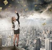 деньги зрелище — Стоковое фото