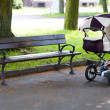 Pram in park — Stock Photo #6145367